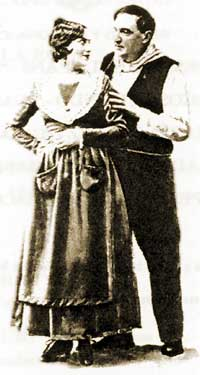 "Felisa Herrero and Emilio Sagi Barba in the premiere of ""La rosa del azafran"""