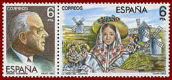 Stamp: Guerrero and 'La rosa del azafran'
