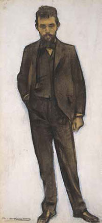 Portrait by Ramon Casas, Amadeo Vives at 29