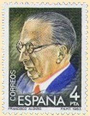 "Francisco Alonso, ""Maestros de la Zarzuela"" stamp series (ill. courtesy Paul van Ouden)"
