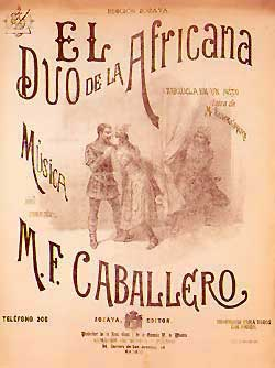 El duo de La africana - original Vocal Score cover