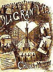 Cartel de la Zarzuela 'Gran Vía'