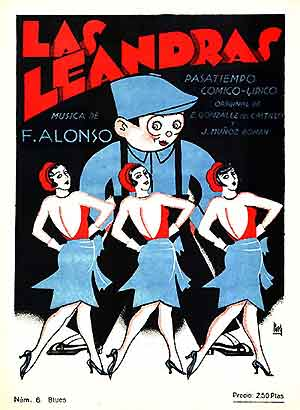 las leandras - original poster (courtesy Rafael Sanchez Alonso)
