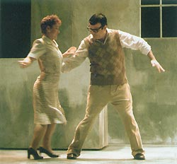Jacinto (Francisco Vas) dances with Tina (Beatriz Diaz)