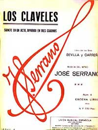 Los Claveles - vocal score cover