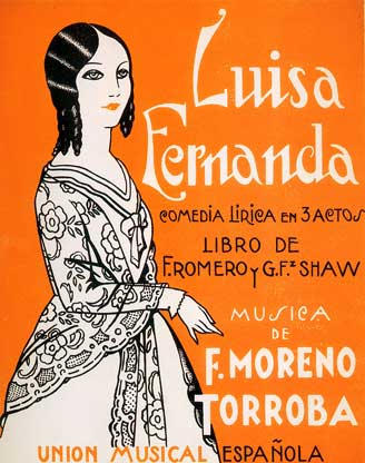 Luisa Fernanda - vocal score cover