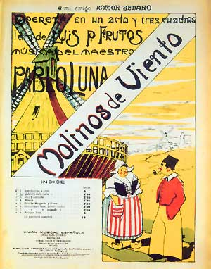 Molinos de viento - Vocal Score cover
