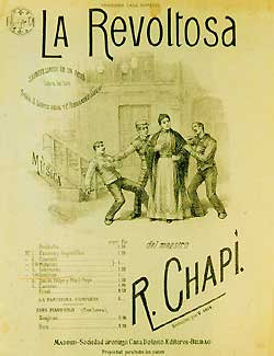 La Revoltosa, Vocal Score cover