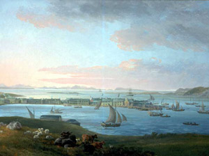 """Village of Stornoway"" (1800, by James Barret)"